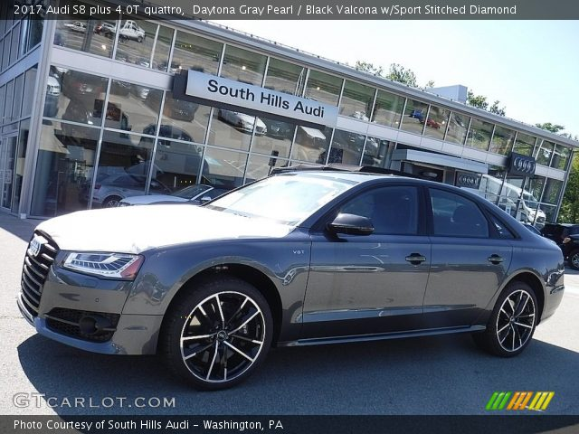 daytona gray pearl 2017 audi s8 plus 4 0t quattro black valcona w sport stitched diamond. Black Bedroom Furniture Sets. Home Design Ideas
