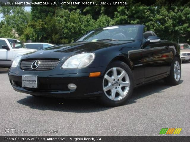 black 2002 mercedes benz slk 230 kompressor roadster. Black Bedroom Furniture Sets. Home Design Ideas