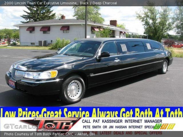 black 2000 lincoln town car executive limousine deep charcoal interior. Black Bedroom Furniture Sets. Home Design Ideas