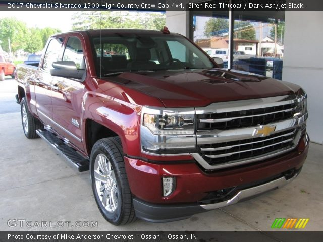 2017 Chevrolet Silverado 1500 High Country Crew Cab 4x4 in Siren Red Tintcoat