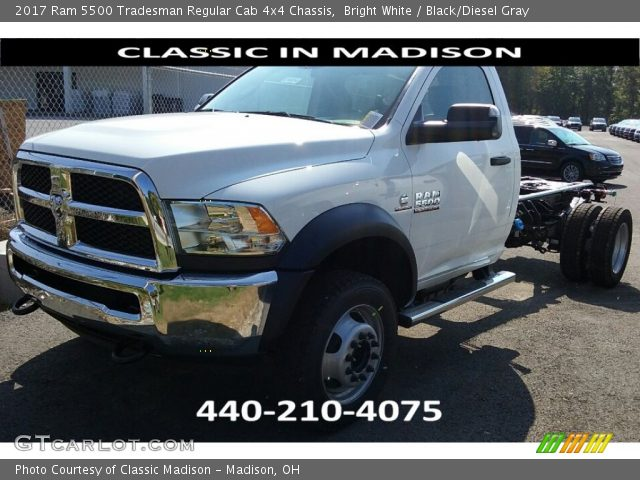 2017 Ram 5500 Tradesman Regular Cab 4x4 Chassis in Bright White