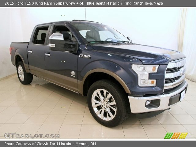 2015 Ford F150 King Ranch SuperCrew 4x4 in Blue Jeans Metallic