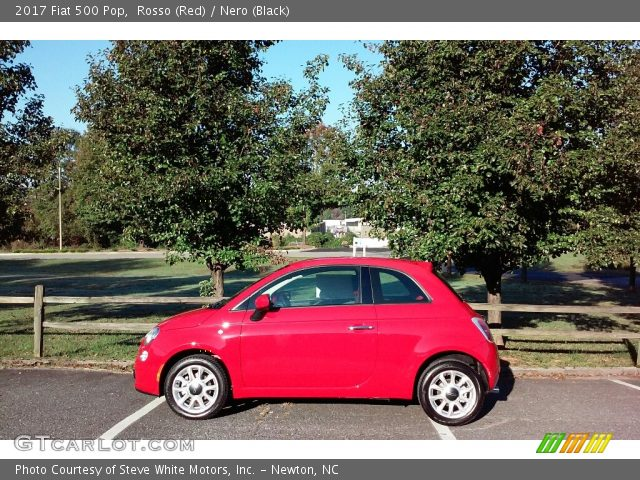 2017 Fiat 500 Pop in Rosso (Red)