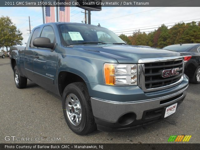 2011 GMC Sierra 1500 SL Extended Cab in Stealth Gray Metallic