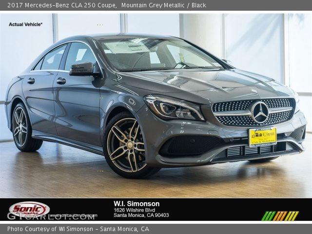 mountain grey metallic 2017 mercedes benz cla 250 coupe black interior. Black Bedroom Furniture Sets. Home Design Ideas