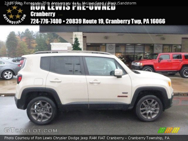 2016 Jeep Renegade 75th Anniversary 4x4 in Mojave Sand