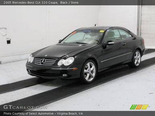 Black 2005 Mercedes Benz Clk 320 Coupe Stone Interior