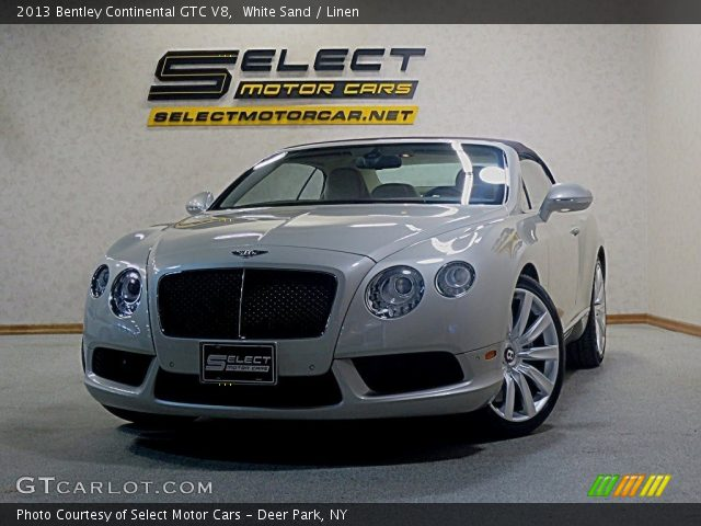 2013 Bentley Continental GTC V8  in White Sand
