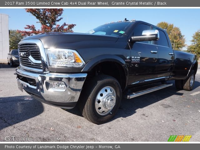 granite crystal metallic 2017 ram 3500 limited crew cab 4x4 dual rear wheel black interior. Black Bedroom Furniture Sets. Home Design Ideas