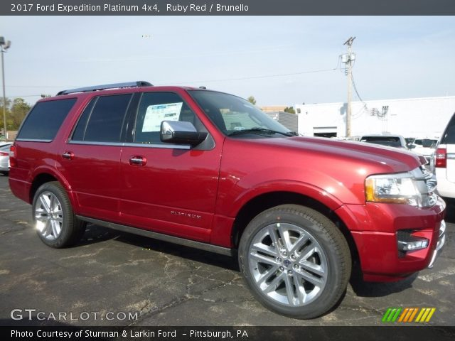 Ruby red 2017 ford expedition platinum 4x4 brunello - 2017 ford expedition platinum interior ...