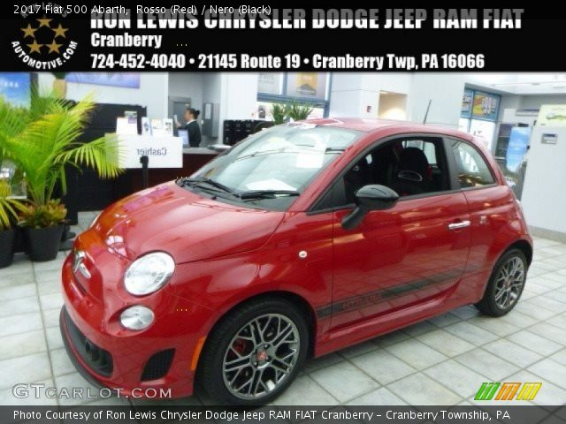 2017 Fiat 500 Abarth in Rosso (Red)