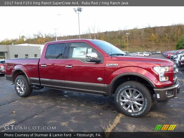 2017 Ford F150 King Ranch SuperCrew 4x4 in Ruby Red