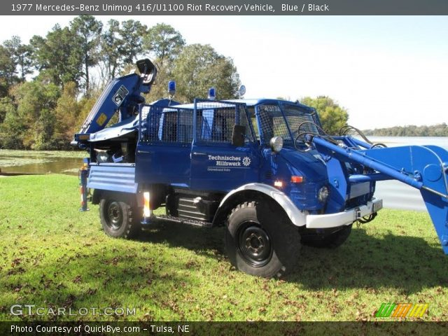 1977 Mercedes-Benz Unimog 416/U1100 Riot Recovery Vehicle in Blue