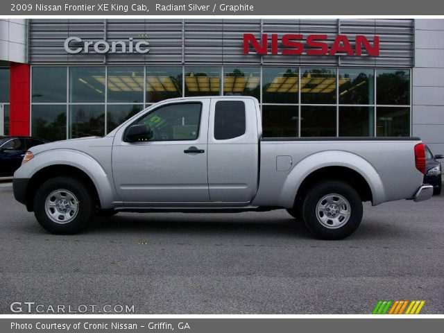 radiant silver 2009 nissan frontier xe king cab graphite interior vehicle. Black Bedroom Furniture Sets. Home Design Ideas