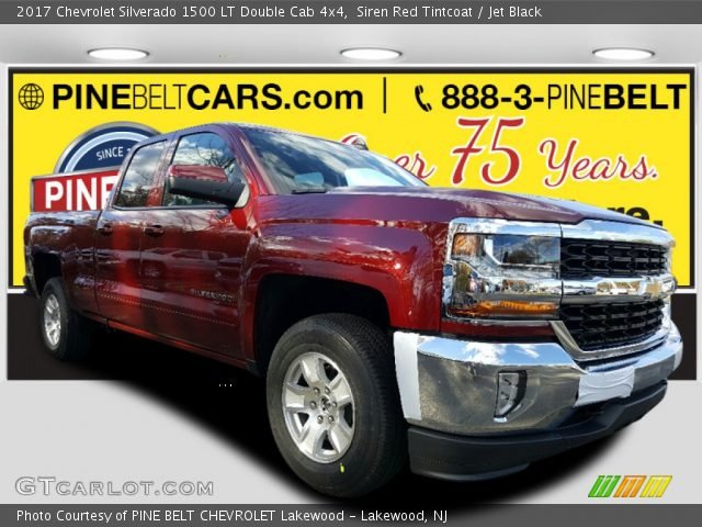 2017 Chevrolet Silverado 1500 LT Double Cab 4x4 in Siren Red Tintcoat