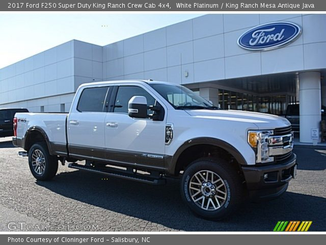 white platinum 2017 ford f250 super duty king ranch crew cab 4x4 king ranch mesa antique. Black Bedroom Furniture Sets. Home Design Ideas