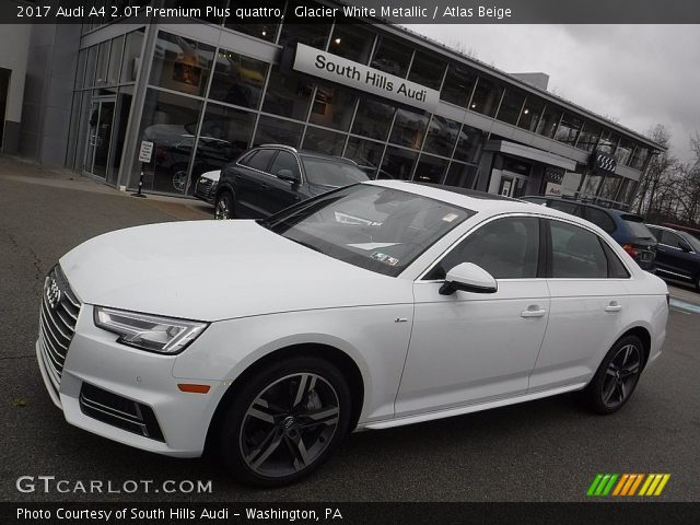 glacier white metallic 2017 audi a4 2 0t premium plus quattro atlas beige interior. Black Bedroom Furniture Sets. Home Design Ideas