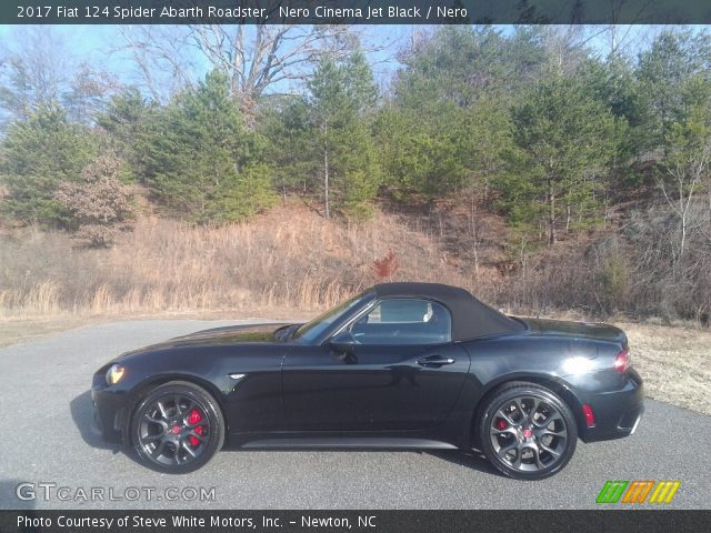 2017 Fiat 124 Spider Abarth Roadster in Nero Cinema Jet Black