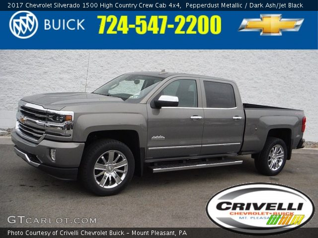 2017 Chevrolet Silverado 1500 High Country Crew Cab 4x4 in Pepperdust Metallic