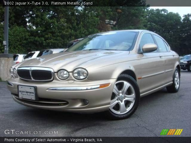 platinum metallic 2002 jaguar x type 3 0 sand interior vehicle archive 1152413. Black Bedroom Furniture Sets. Home Design Ideas