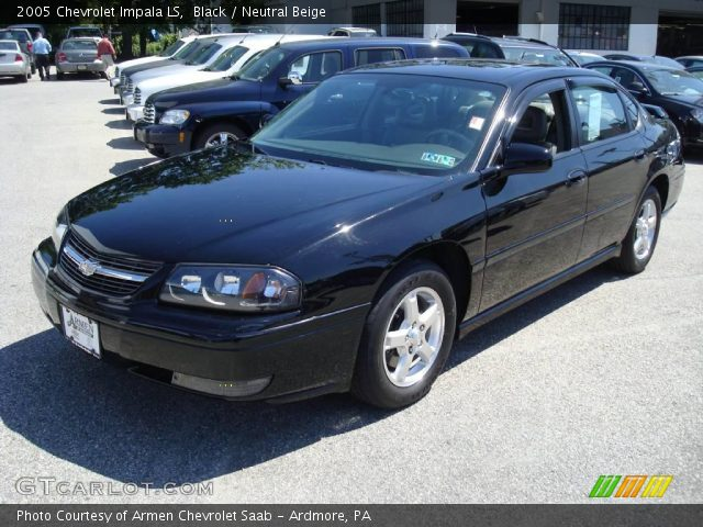 black 2005 chevrolet impala ls neutral beige interior. Black Bedroom Furniture Sets. Home Design Ideas