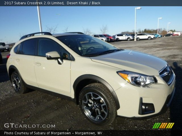 Desert khaki 2017 subaru crosstrek limited black interior vehicle for Subaru crosstrek 2017 interior