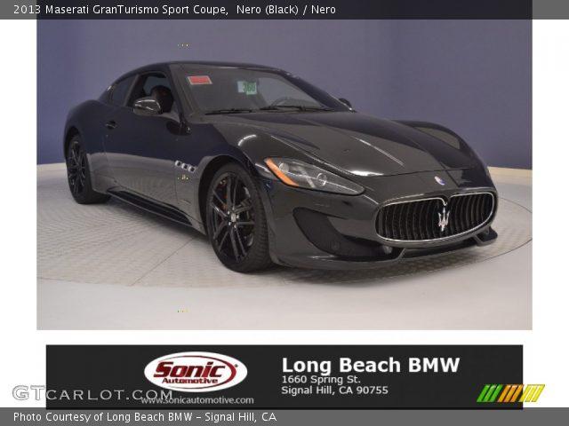 2013 Maserati GranTurismo Sport Coupe in Nero (Black)