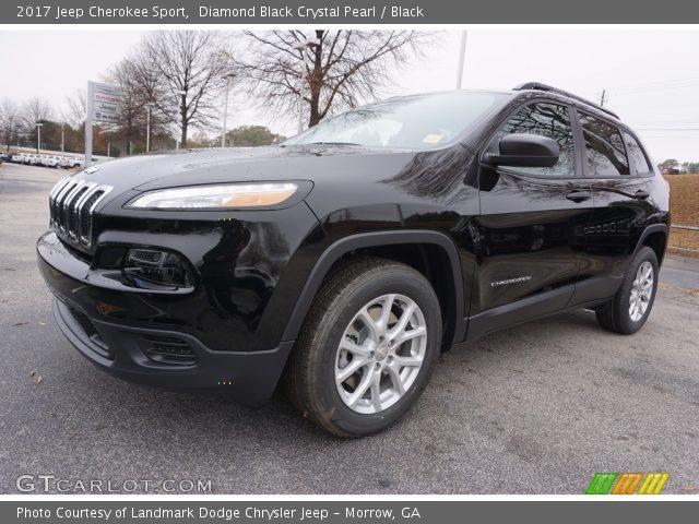 diamond black crystal pearl 2017 jeep cherokee sport black interior vehicle. Black Bedroom Furniture Sets. Home Design Ideas
