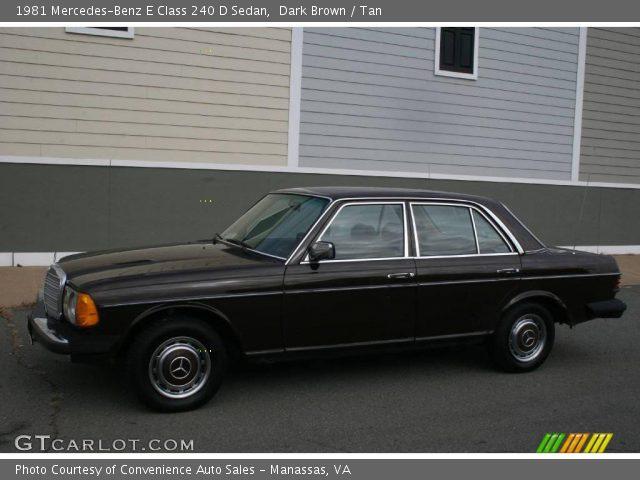 1981 Mercedes-Benz E Class 240 D Sedan in Dark Brown