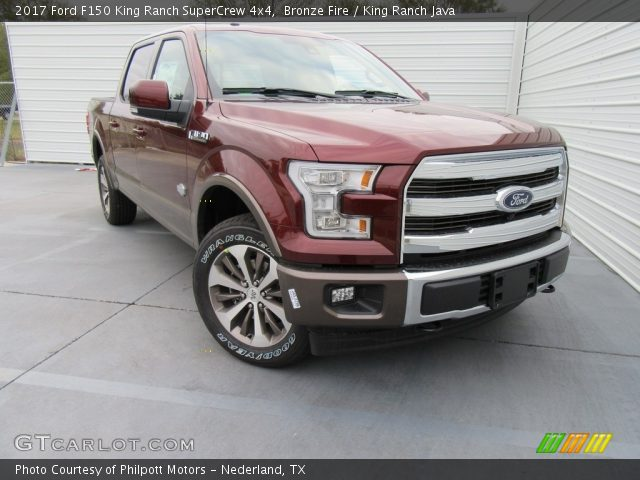 2017 Ford F150 King Ranch SuperCrew 4x4 in Bronze Fire