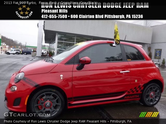 2013 Fiat 500 Turbo in Rosso (Red)