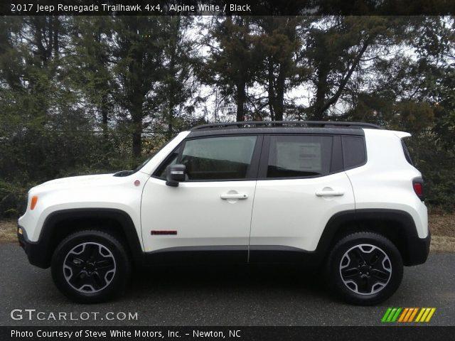 Alpine white 2017 jeep renegade trailhawk 4x4 black - Jeep renegade trailhawk interior ...