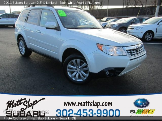 2011 Subaru Forester 2.5 X Limited in Satin White Pearl