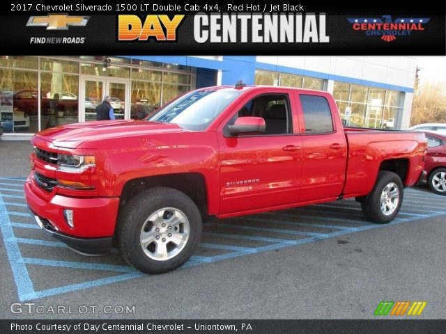 2017 Chevrolet Silverado 1500 LT Double Cab 4x4 In Red Hot