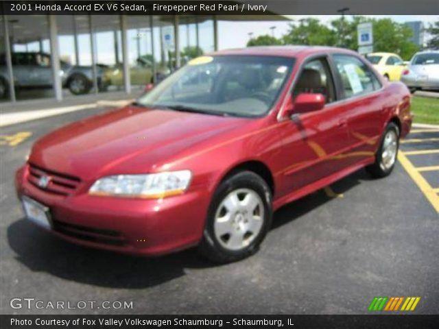firepepper red pearl 2001 honda accord ex v6 sedan ivory interior vehicle. Black Bedroom Furniture Sets. Home Design Ideas