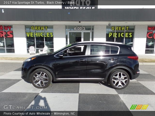 2017 Kia Sportage SX Turbo in Black Cherry