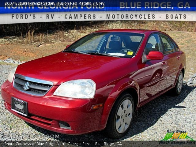 2007 Suzuki Forenza Sedan in Fusion Red Metallic