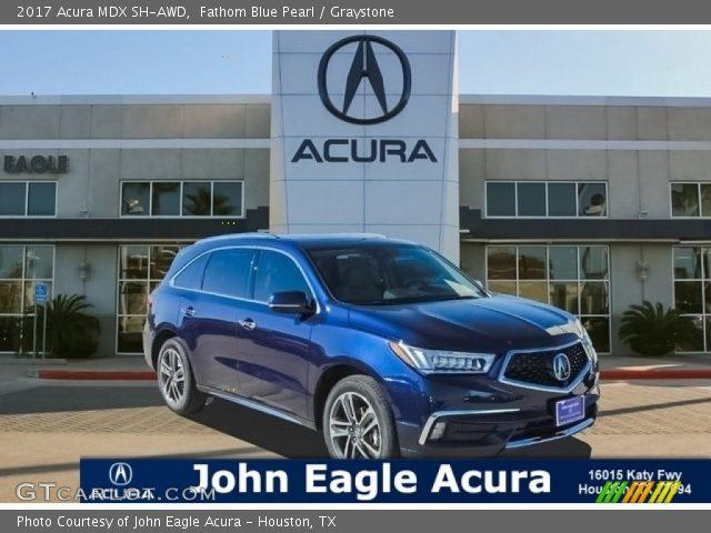 2017 Acura Mdx Sh Awd In Fathom Blue Pearl