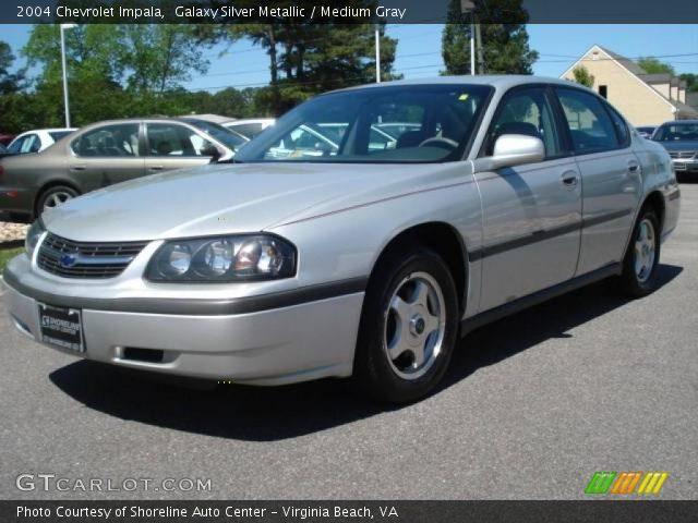galaxy silver metallic 2004 chevrolet impala medium gray interior vehicle. Black Bedroom Furniture Sets. Home Design Ideas