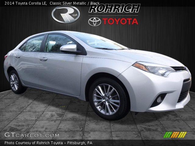 2014 Toyota Corolla LE in Classic Silver Metallic