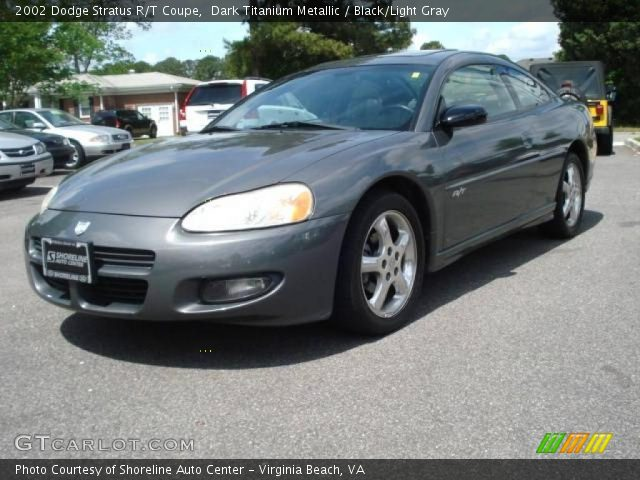 Dodge Stratus Rt Black. Dark Titanium Metallic 2002 Dodge Stratus R/T Coupe with Black/Light Gray interior 2002 Dodge Stratus R/T Coupe in Dark Titanium Metallic