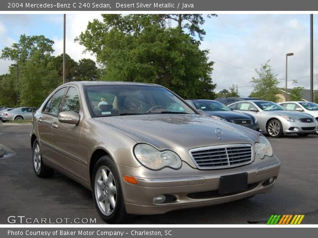 desert silver metallic 2004 mercedes benz c 240 sedan java interior vehicle. Black Bedroom Furniture Sets. Home Design Ideas