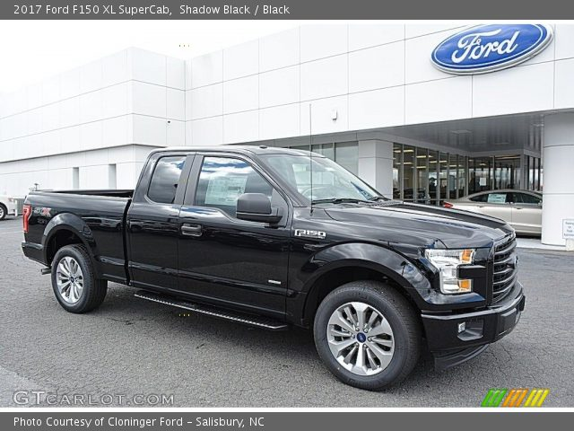 2017 Ford F150 XL SuperCab in Shadow Black