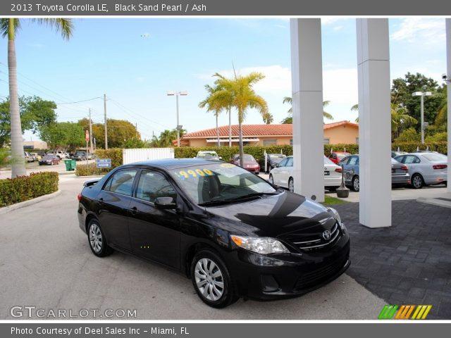2013 Toyota Corolla LE in Black Sand Pearl