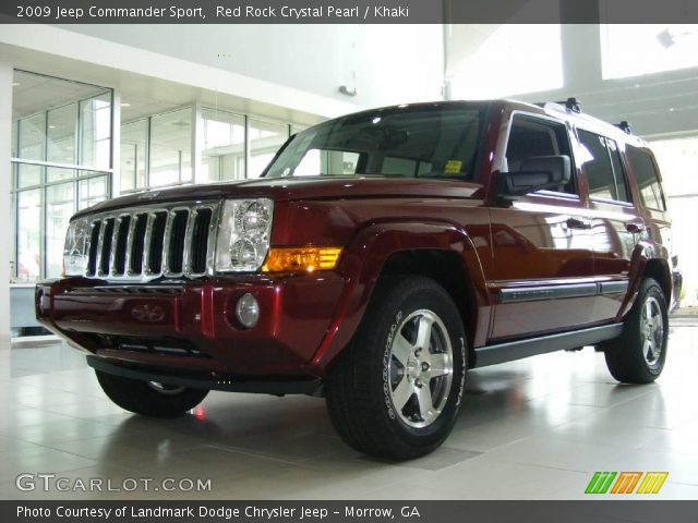red rock crystal pearl 2009 jeep commander sport khaki. Black Bedroom Furniture Sets. Home Design Ideas