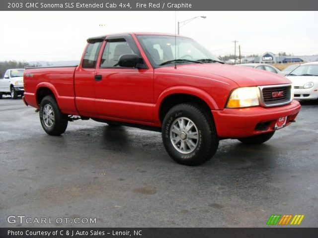 fire red 2003 gmc sonoma sls extended cab 4x4 graphite interior vehicle. Black Bedroom Furniture Sets. Home Design Ideas