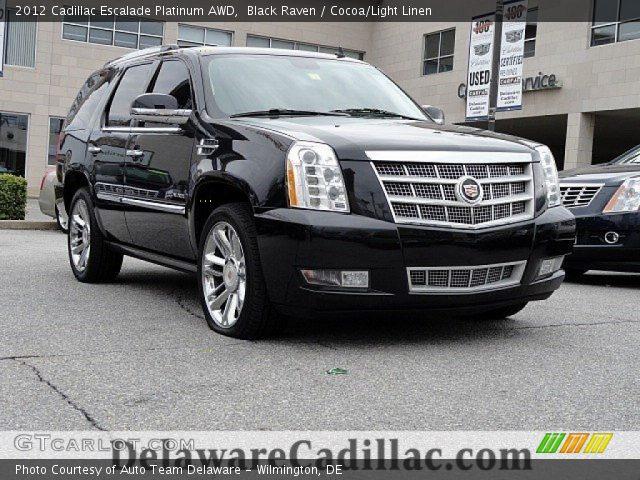 2012 Cadillac Escalade Platinum AWD in Black Raven