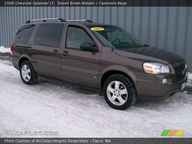 Desert Brown Metallic 2008 Chevrolet Uplander Lt Cashmere Beige Interior