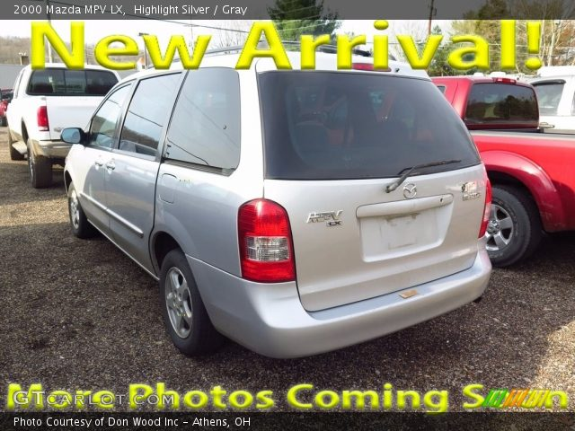 2000 Mazda MPV LX in Highlight Silver