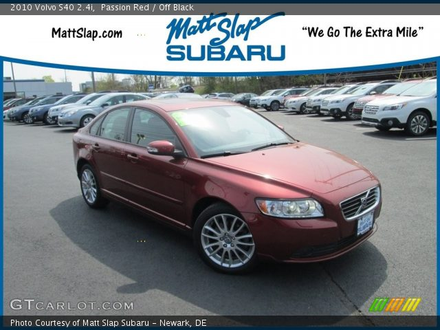 2010 Volvo S40 2.4i in Passion Red